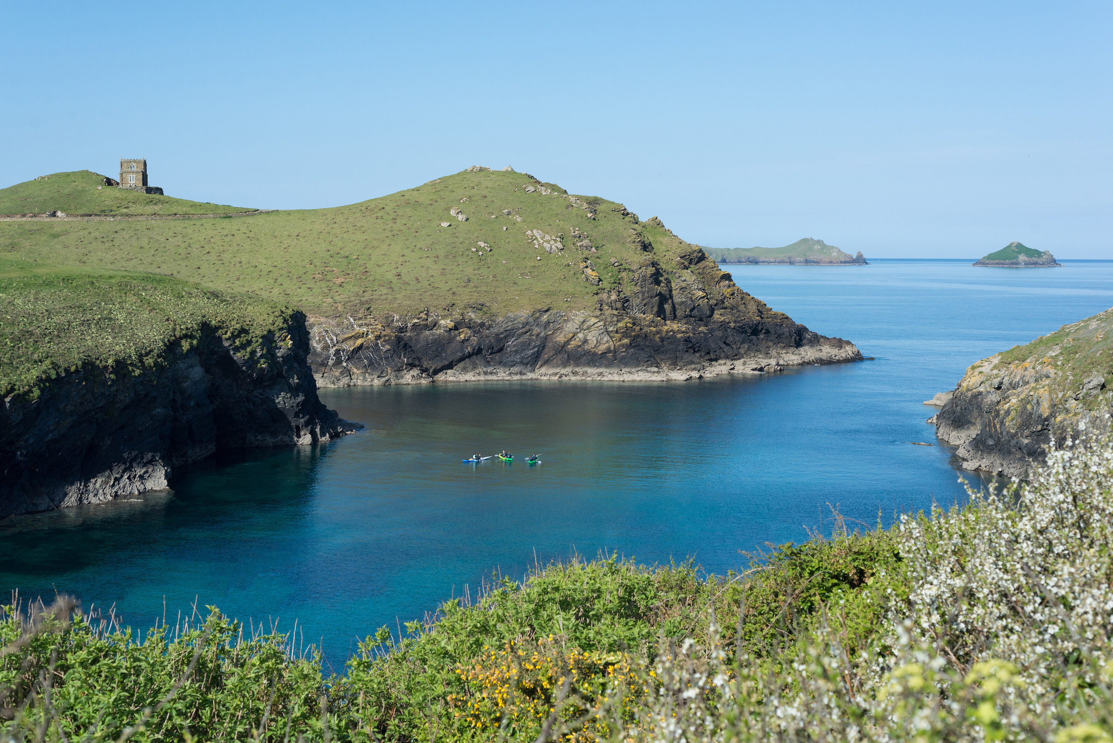 E.g. 'Kayak tours Cornwall' Port Quin, Port Gaverne  and Port Isaac