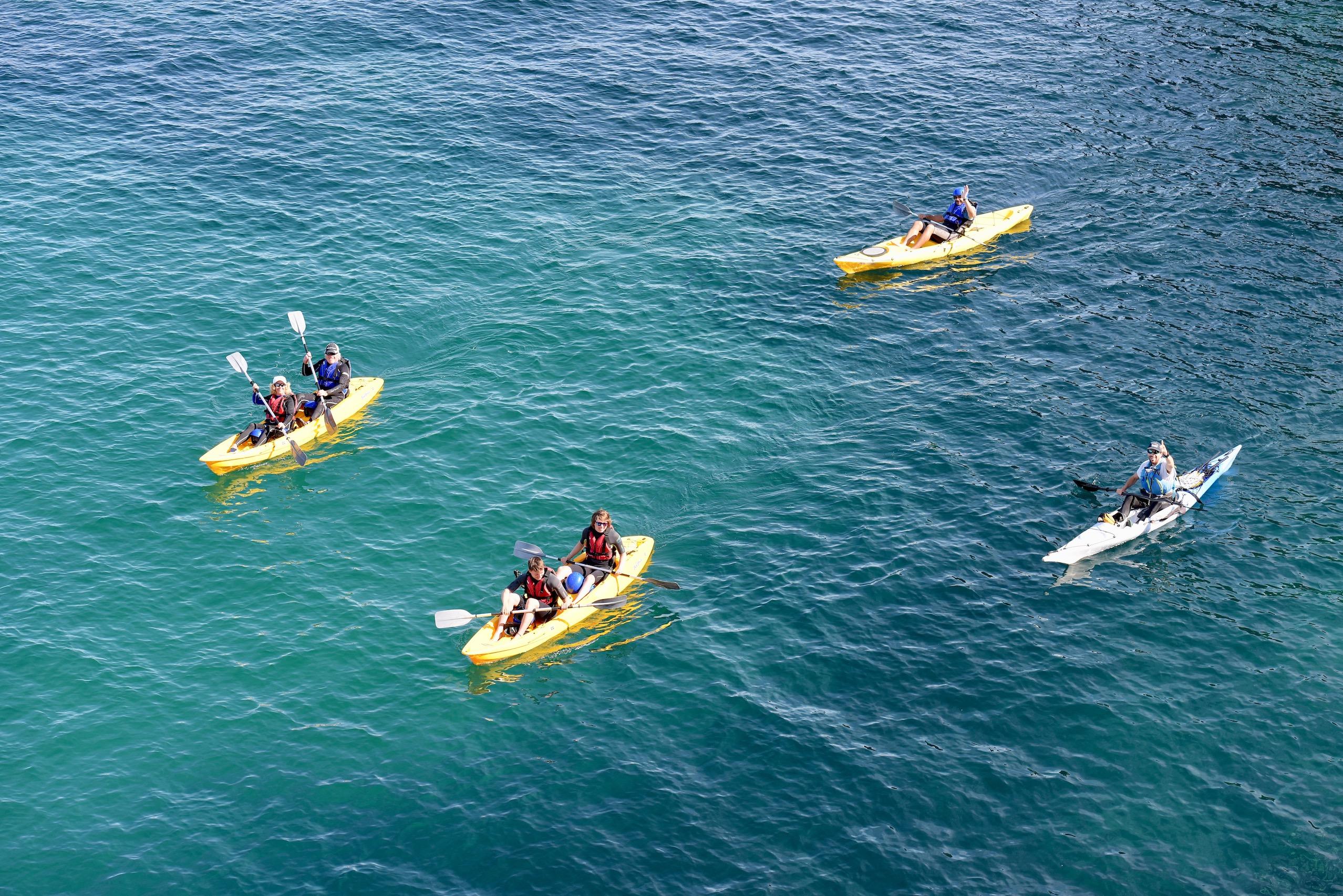 E.g. 'Kayak tours Cornwall' Port Quin