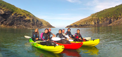 Family Fun Tours in Port Quin harbour.