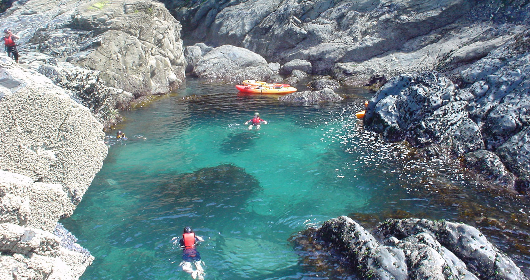 'Kayak tours Cornwall' Swim in secret lagoons!